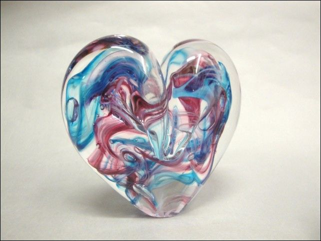 Click to view detail for DG-1039 Heart Pink & Aqua