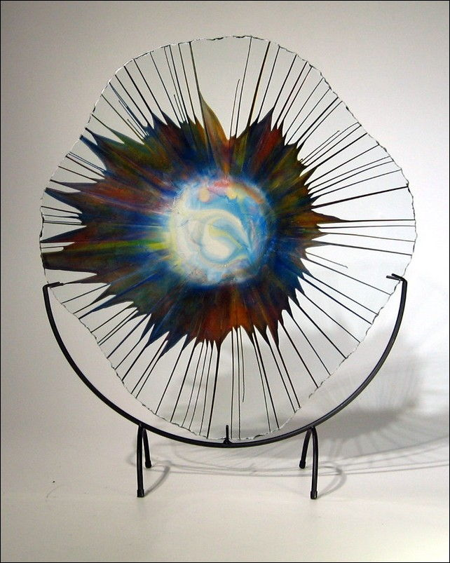 Click to view detail for Art Glass - 18 - 011_5 Energy Web