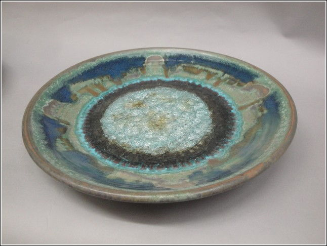Click to view detail for KB339 Platter with Glass Green