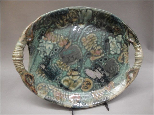 Click to view detail for TH-7328 Oval Platter with Handles