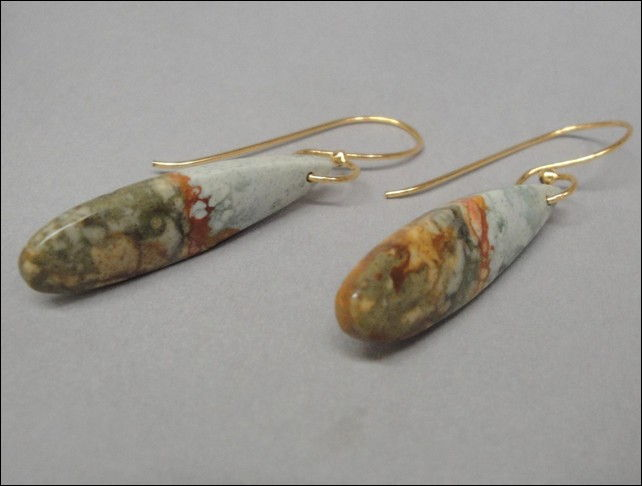 Click to view detail for 7353 Earrings Owhwee Agate