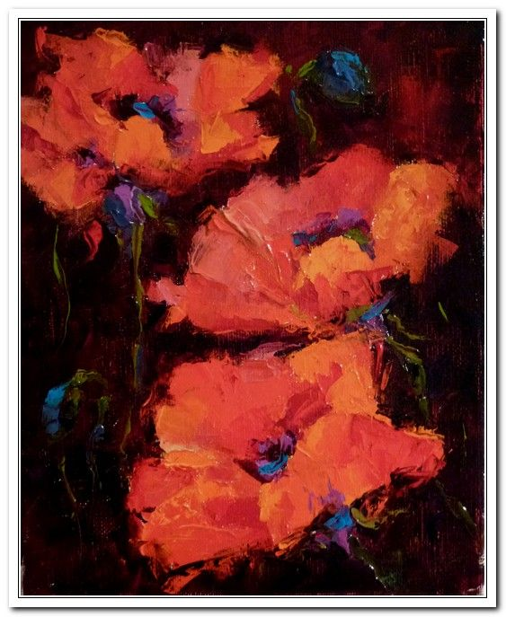 Beauties - More Poppies at Hunter Wolff Gallery