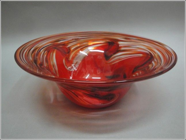 Click to view detail for DB-005 Bowl, Red Wave