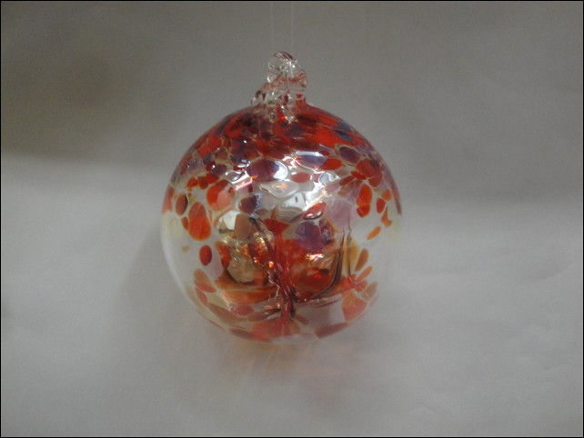 Click to view detail for DB-192 Ornament Witches Ball, Red