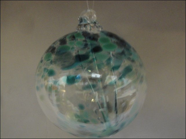 DB-197 Ornament Witches Ball, Teal at Hunter Wolff Gallery