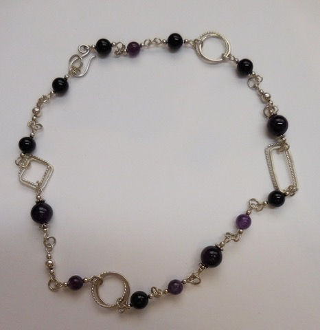 DKC-884 Necklace with Amethyst Stone at Hunter Wolff Gallery