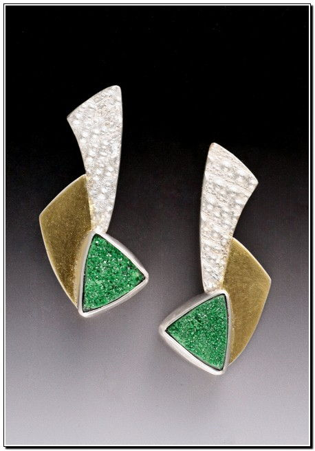 Earring - E263 Quetzales at Hunter Wolff Gallery