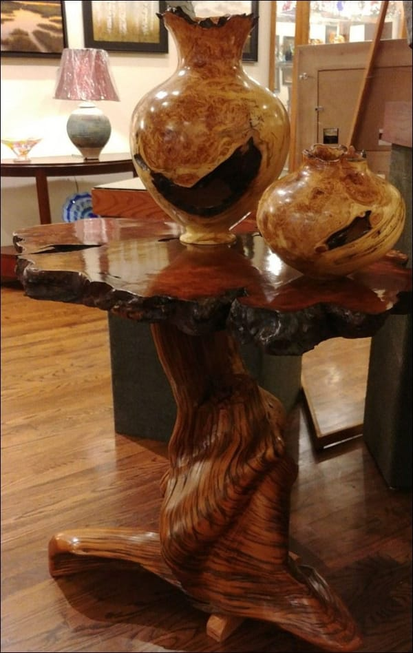 JW-082 Table Reclaimed Redwood and Juniper at Hunter Wolff Gallery