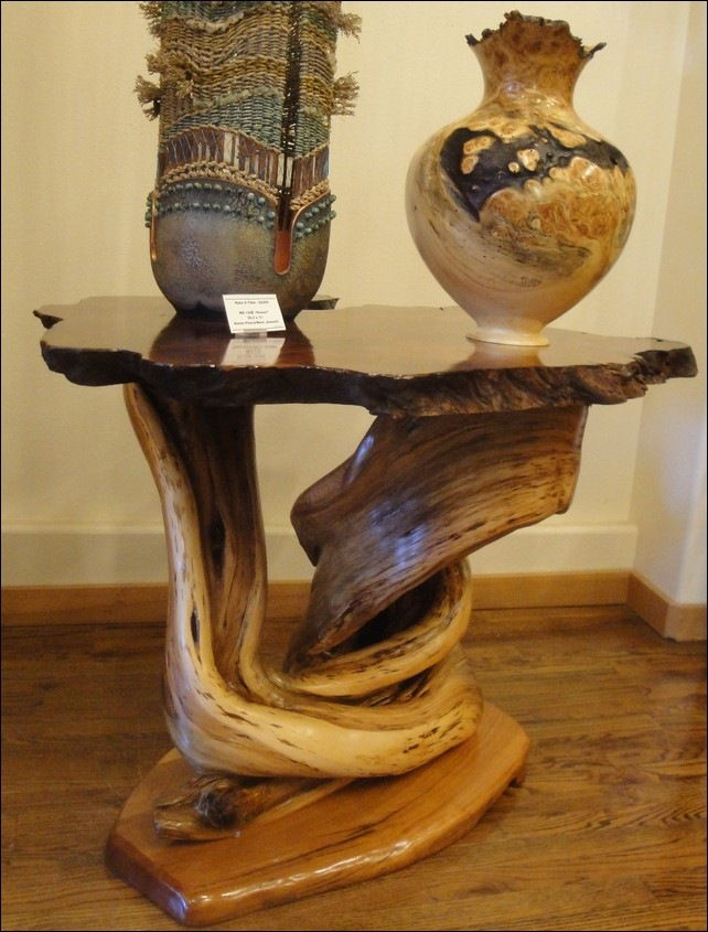 Click to view detail for Table JW083 Juniper Base and Reclaimed Red Wood To