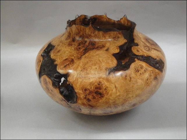 Click to view detail for JW-094 Aspen Burl Vessel