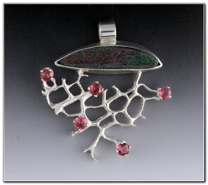Pendant:  P225 Tree of Knowledge/Life at Hunter Wolff Gallery