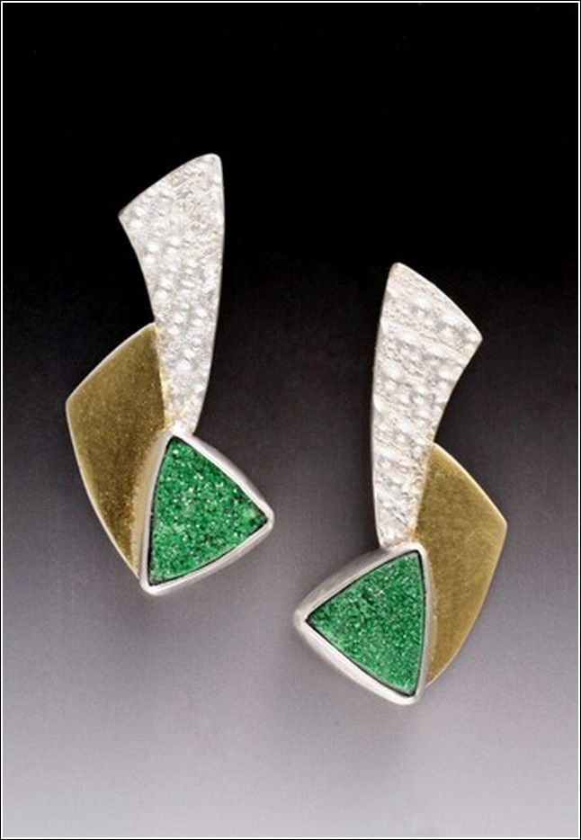 MB-E263 Earrings Quetzales at Hunter Wolff Gallery