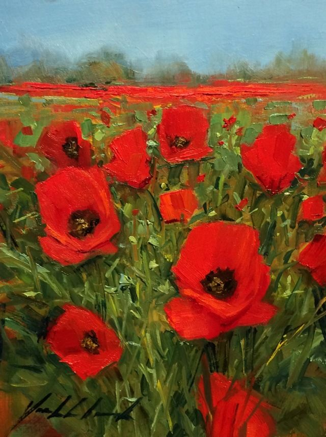 Red Poppies at Hunter Wolff Gallery