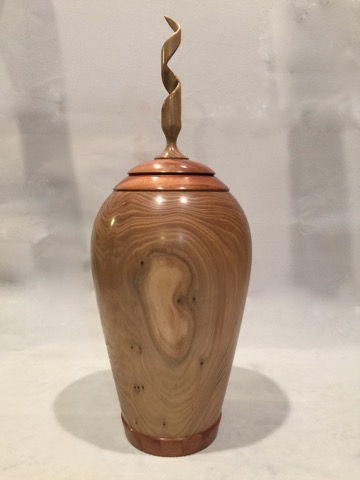 Click to view detail for TC-053 Spiral, Elm & Sapele Vessel