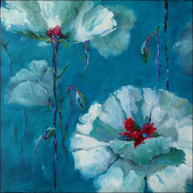 Click to view detail for White Poppies