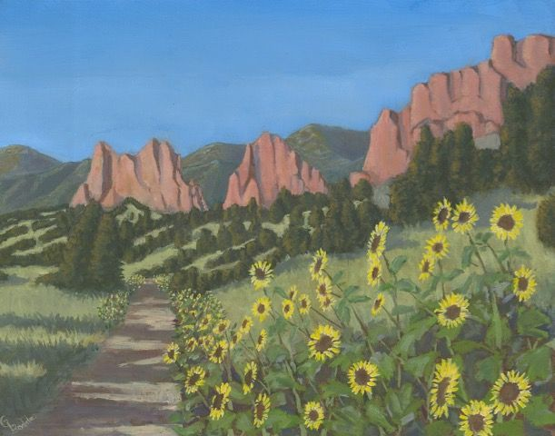 Black Eyed Susans, Garden of the Gods at Hunter Wolff Gallery