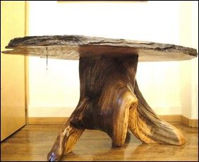 JW-095 Table, Juniper & Reclaimed Redwood at Hunter Wolff Gallery