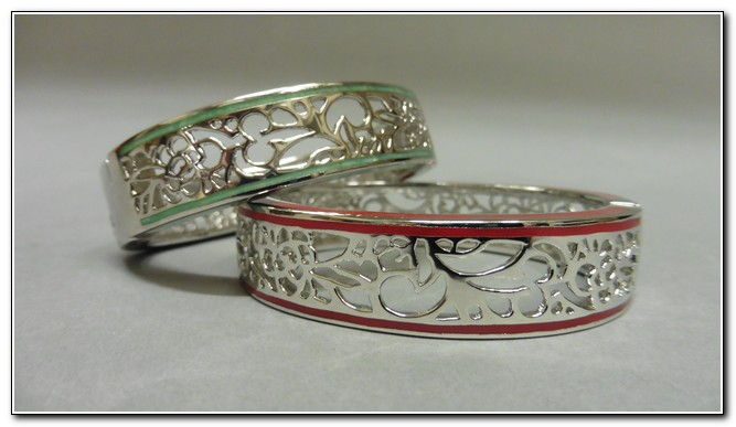 Click to view detail for Bangle - S134s Silver, or mint