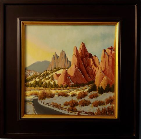 Click to view detail for Garden of the Gods Morning Snow 12x12 $450
