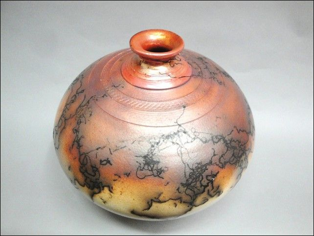 Click to view detail for MP-047 Raku Vessel
