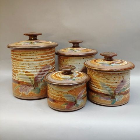 Canister Set (4 pc set) at Hunter Wolff Gallery