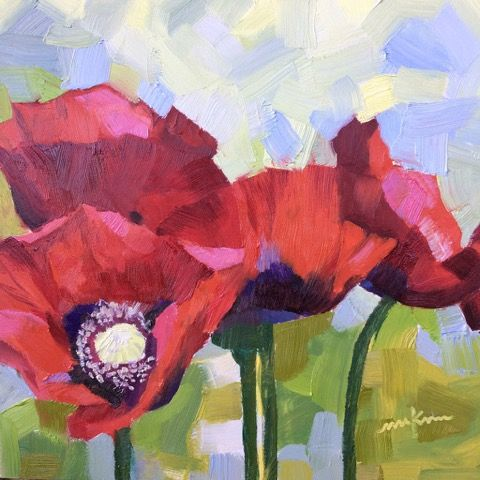 Click to view detail for Red Poppies 4