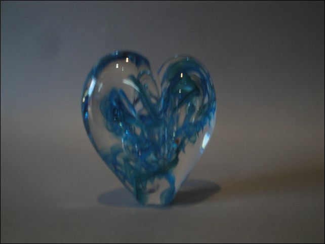 Click to view detail for DG-1069 Heart - Aqua