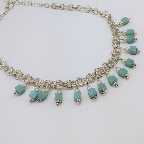 Click to view detail for DKC-1078 Necklace, Amazonite & Silver $325