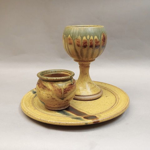 Wine Goblet, Plate, Cup at Hunter Wolff Gallery
