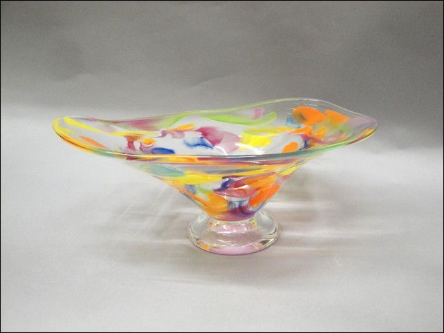 Click to view detail for DG-1132 Shallow Bowl, Confetti