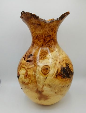 Click to view detail for JW-177 Aspen Burl Vessel Tall 15.75x9.5 $875