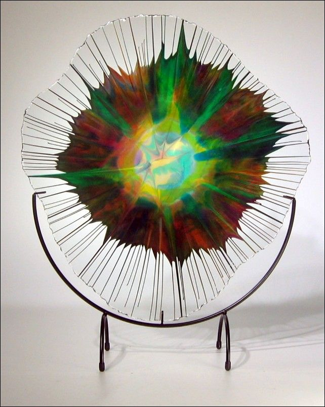 Click to view detail for Art Glass - 18-003.2 Energy Web
