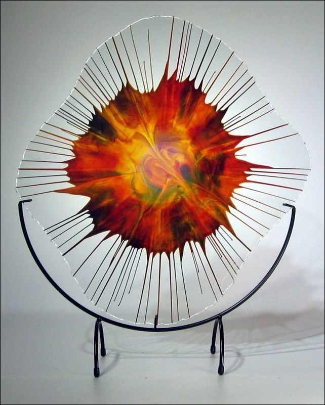 Art Glass - 18-006.4 Energy Web at Hunter Wolff Gallery
