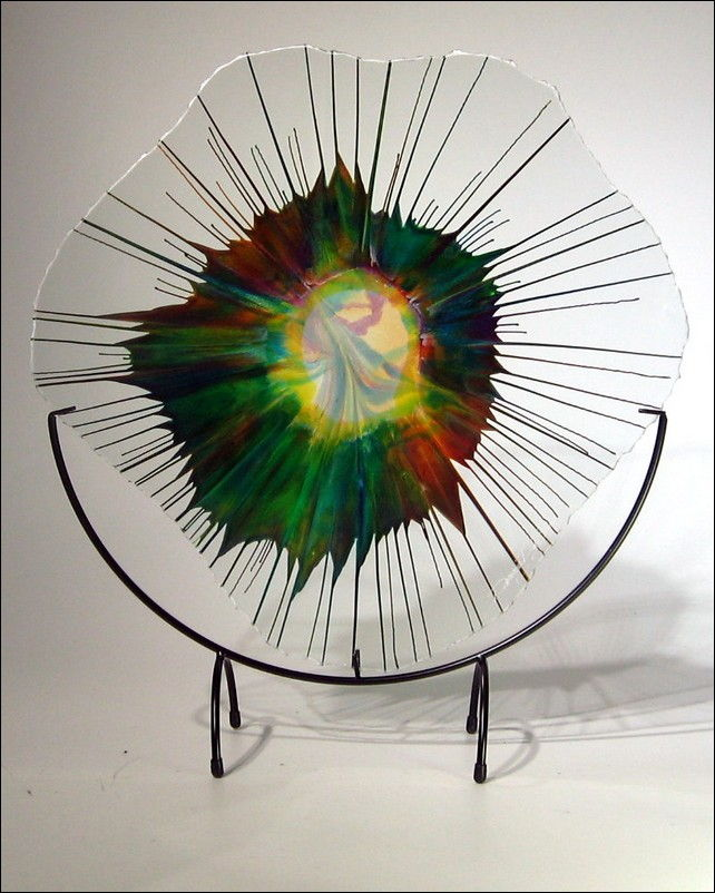 Click to view detail for Art Glass - 18 -015_5  Energy Web