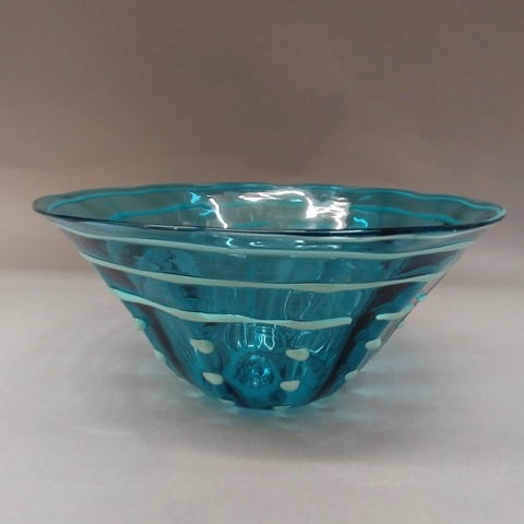 Click to view detail for DB-240 Bowl Teal Dots