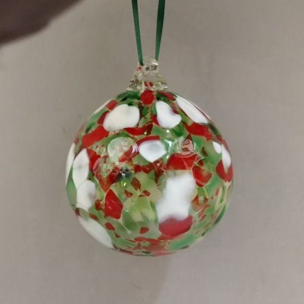 Click to view detail for DB-261 Optic ornament, holiday colors