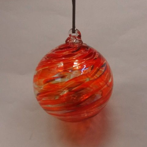 Click to view detail for DB-279 Ornament - frit twist red