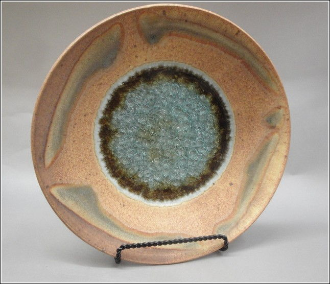 Click to view detail for KB334 Platter with Glass Sienna