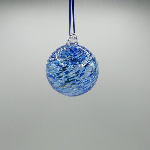 Click to view detail for DB-366 Ornament - Snow Storm Blue 3x3
