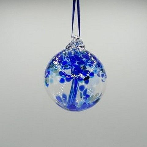 Click to view detail for DB-370 Witchball Ornament Blue 3x3