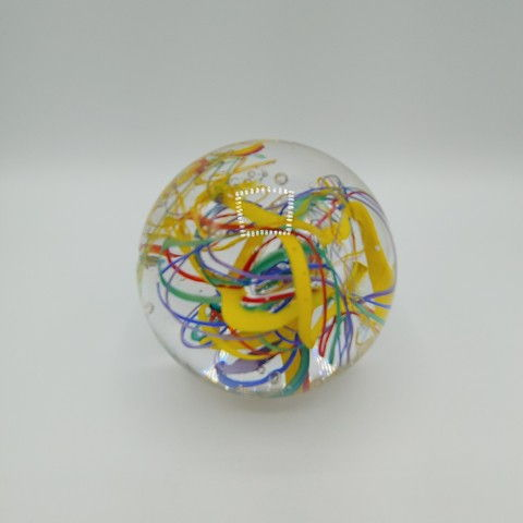 Click to view detail for DB-375 Paperweight -Abstract Rainbow 3.5x3.5