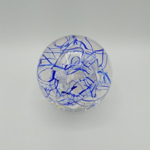Click to view detail for DB-378 Paperweight -Abstract Blue 2.75x2.75