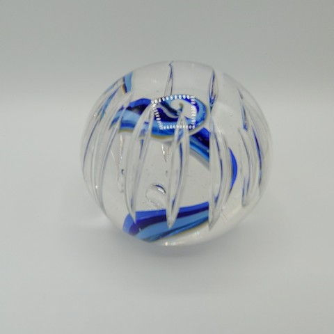 Click to view detail for DB-379 Paperweight - Blue Bubble 3x3