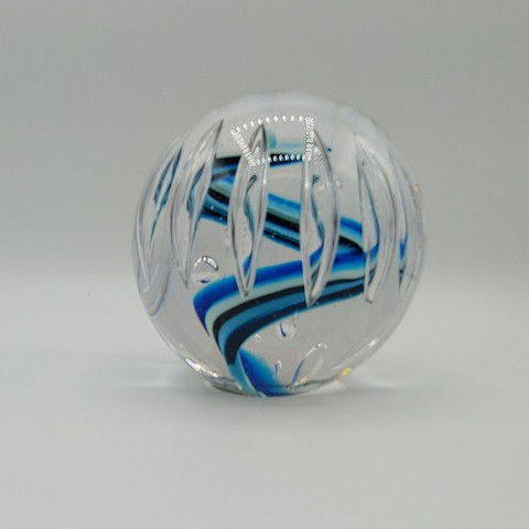 Click to view detail for DB-380 Paperweight - Teal Bubble 3x3