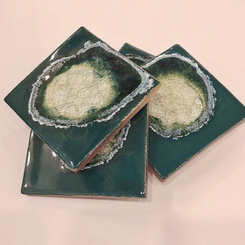 Click to view detail for KB413 Coaster Set - Forest Green