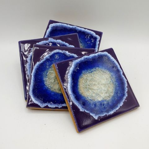 Click to view detail for KB-475 Coaster Set of Four - Purple $39.50