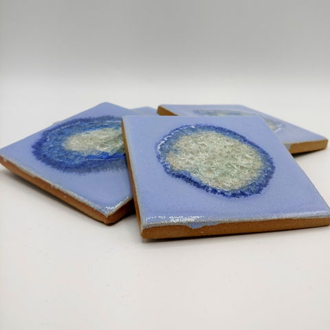 Click to view detail for KB-482 Coaster Set of Four - Periwinkle