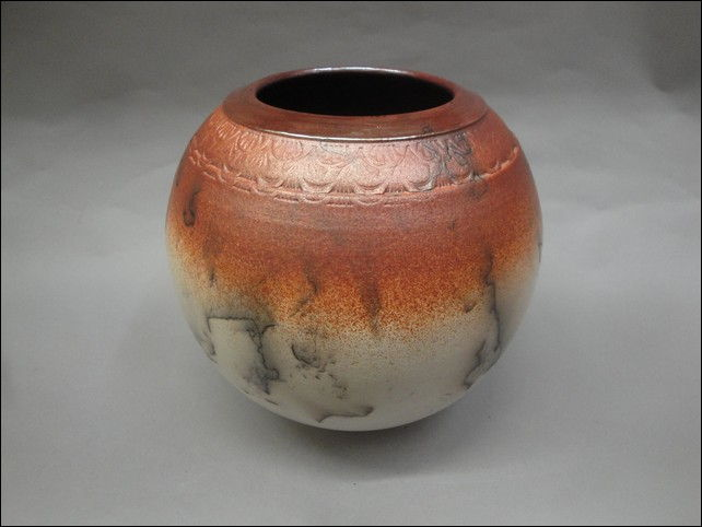 MP-058 Raku, Horsehair at Hunter Wolff Gallery