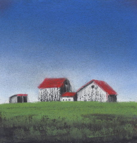 A Family of Barns 4x4 $450 at Hunter Wolff Gallery