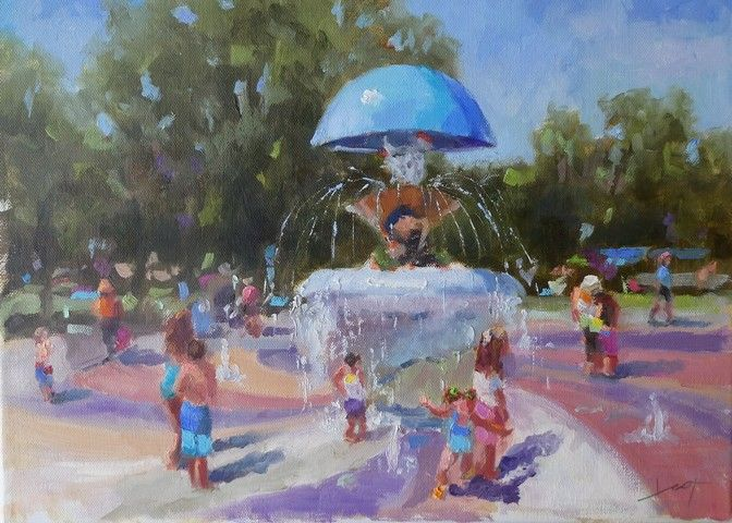 Click to view detail for Acacia Park Fun 12x16